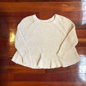 Madewell Linen Cotton Knit Sweater size XS